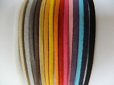 10m MIX - ASSORTED COLOUR FAUX 3mm SUEDE JEWELLERY MAKING STRINGING MATERIAL