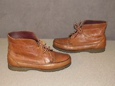 TIMBERLAND Waterproof Brown Leather Lace Up Ankle Boots Size 9.5 Wide