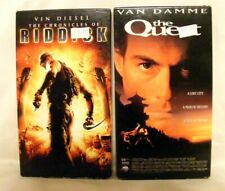 """2 Vhs Tapes - """"The Chronicles of Riddick"""" rated Pg-13 & """"The Quest"""" rated Pg-13"""