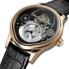 Creative Tourbillon Men's Watch Automatic Mechanical Luxury Dial & Leather Strap