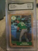 1987 Topps #366 Mark McGwire Oakland A's RC Rookie 8.5 Nm-MINT GMA