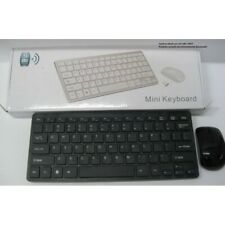 Kit Tastiera Slim Mouse Ottico Wireless senza Fili 2.4 GHz Mini Keyboard
