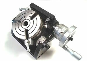 New HV4 -3 Slot Tilting Rotary Table for Milling Indexing Kit Machine Tools