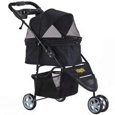 Pet Stroller Cat Dog Jogger Puppy Pushchair Travel Cart Carrier Walk 3 Wheels