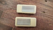 BMW E46 Interior Lights 140929, 140930, Left and Right Vanity Lamps Pair Tan