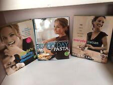 LOT OF 3 GIADA DE LAURENTIIS COOKBOOKS EVERYDAY PASTA FAMILY DINNERS ITALIAN