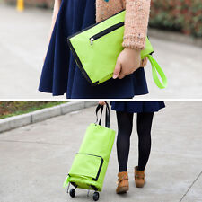 1Pc Shopping Trolley Bag With Wheels Portable Foldable Shopping Bag Cart