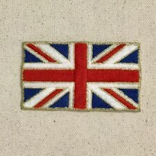 Royal Union Jack Flag - UK - Gold Border - Iron on Applique/Embroidered Patch