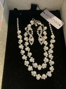 New Jon Richard Jewellery Set - Necklace, Bracelet and earrings