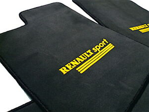 velours floor mats for Renault Megane 3 RS  with yellow Logo