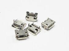 5 X CONECTOR MICRO USB 5 PIN HEMBRA, FEMALE MICROUSB CONECTOR SMD