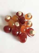 China old red yellow agate Snuff bottle lid Collection