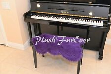"""20"""" x 30"""" A21 PIANO Seat PADDING Purple Shaggy Faux Fur Keyboards Accessories"""