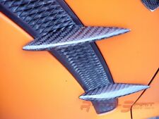 4X REAL 3D GLOSS CARBON FIBER FENDER FIN SET 04-08 MAZDA RX8 RX-8 MAZDASPEED JDM