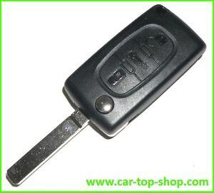 3-Tasten Klapp-Schlüssel Gehäuse für Citroen C2 C3 C4 C5 C6 Picasso Jumper key