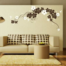 LARGE VINE Flower Wall Sticker / Large Interior Decor / Floral Wall Transfers