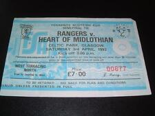 More details for rangers fc v hearts fc 2-1 mcpherson mccoist 1993 scottish cup semi-final ticket