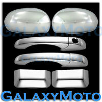 Triple Chrome plated Mirror+4 Door Handle W/O PSG K Cover for 07-12 JEEP COMPASS