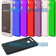 Funda carcasa para HUAWEI P9 Gel TPU Lisa Mate Flexible Colores Varios Elige