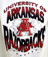 Vintage 90s University of Arkansas Razorbacks Graphic T Shirt Men L New W/ Tags