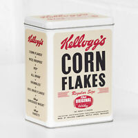 Kellogg's Corn Flakes Cereal Tin Retro Metal Kitchen Biscuit Storage Container