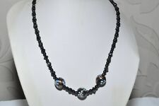 BEAUTIFUL VINTAGE ART DECO NECKLACE OF BLANK GLASS & FANCY GLASS BEADS