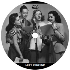 LET'S PRETEND (70 SHOWS) OLD TIME RADIO MP3 CD