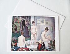 Carte de Voeux + Enveloppe - Georges Seurat. Poseuses