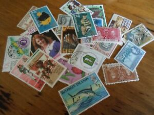Collection lot 25 different stamps of the British Virgin Islands