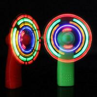 Portable LED Colorful Pocket Mini Fan Cool Air Hand Held Summer O5W3