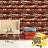 3D Rustic Brick Stone Wallpaper Background Vinyl Film Sticker Self-adhesive Red