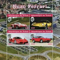 Chad Cars Stamps 2020 CTO Enzo Ferrari Famous People Transport 4v M/S