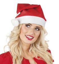 Bonnet pere noel chapeau santa deguisement lutin adulte homme femme rouge pompom