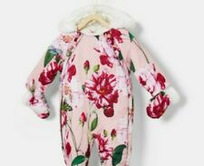 Ted BakerBaby Girls' Pink Floral Print Quilted Snowsuit. 9-12 Months. BNWT