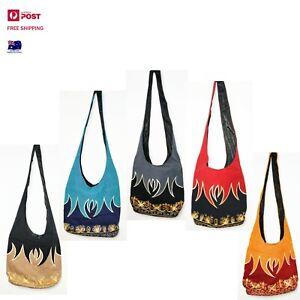 Beautiful Embroidery Handmade durable Shoulder bag | Cross Body | Hippie | Vegan