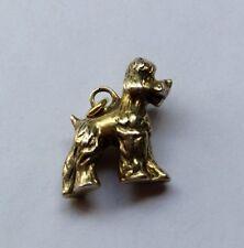 Anhänger Figur Hund Pudel Silber massiv vergoldet