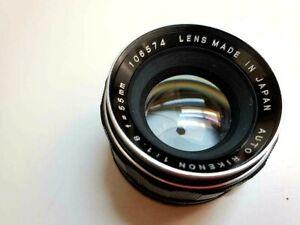 MINT Auto Rikenon (Tomioka) 1:1.8 f=55mm Manual Lens. M42 Screw Mount
