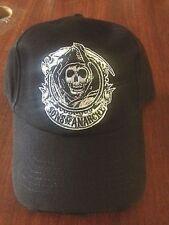 Authentic Sons Of Anarchy Cog Wheel Grim Reaper Soa Logo Biker Samcro Hat Cap
