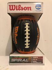 Wilson Official Ncaa Hyper Spiral Junior Size Football Wave Technology Ages 9+