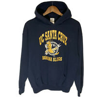 UC Santa Cruz Banana Slugs Mens Medium 1997 Hoodie Sweatshirt Pulp Fiction Blue