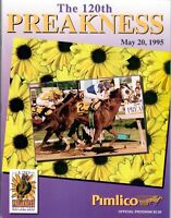 1995 PIMLICO PREAKNESS HORSE RACING PROGRAM - TIMBER COUNTRY, PAT DAY & D. WAYNE