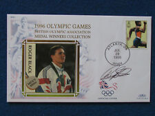 HAND SIGNED -  Roger Black - Atlanta 1996 Olympics-Commemorative First Day Cover