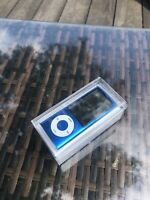 Apple iPod Nano 5th Generation Blue 8 GB Box all accessories w/ replacem battery