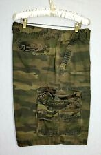 Faded glory Cargo Shorts Men Size 38 Olive Green Camo Casual wear
