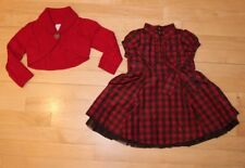 EUC Baby Gap Girls 12-18 Plaid Dress Sweater Christmas Holiday Special Occasion