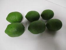 6 x Künstliche Limetten wie echt Theke Deko Obst Limette künstlich Dekoobst Neu