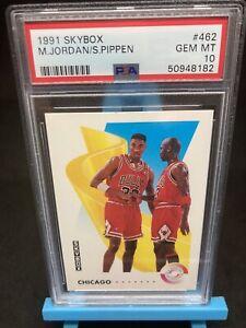1991-92 Skybox Psa Graded 10 Michael Jordan / Scottie Pippen #462