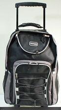 "20"" Black Large Rolling Backpack Wheeled School Bookbag Travel Carry-On Bag"