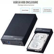 "USB 3.0 to SATA 2.5/3.5"" 8TB External HDD SSD Hard Drive Disk Enclosure Case Box"