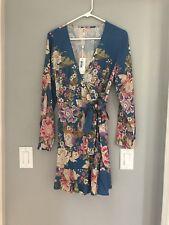 Spell Designs Blue Skies Wrap Dress Medium Nwt